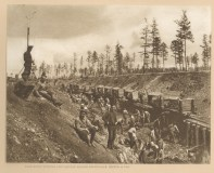 Russian prisoners at work on the Amur Railway