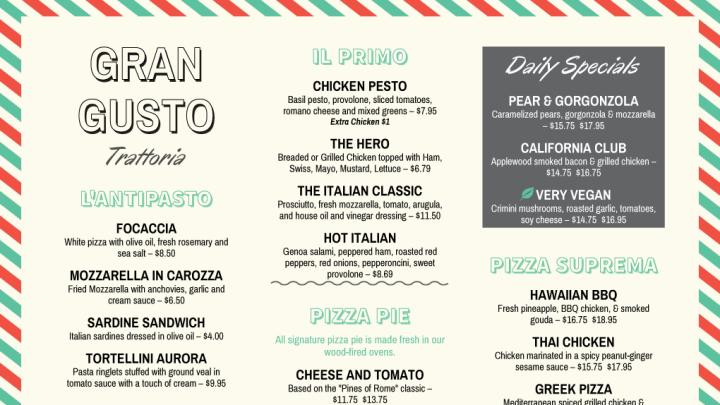 restaurant menus maker