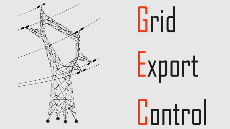 GRID EXPORT CONTROL: limit the injection of electricity