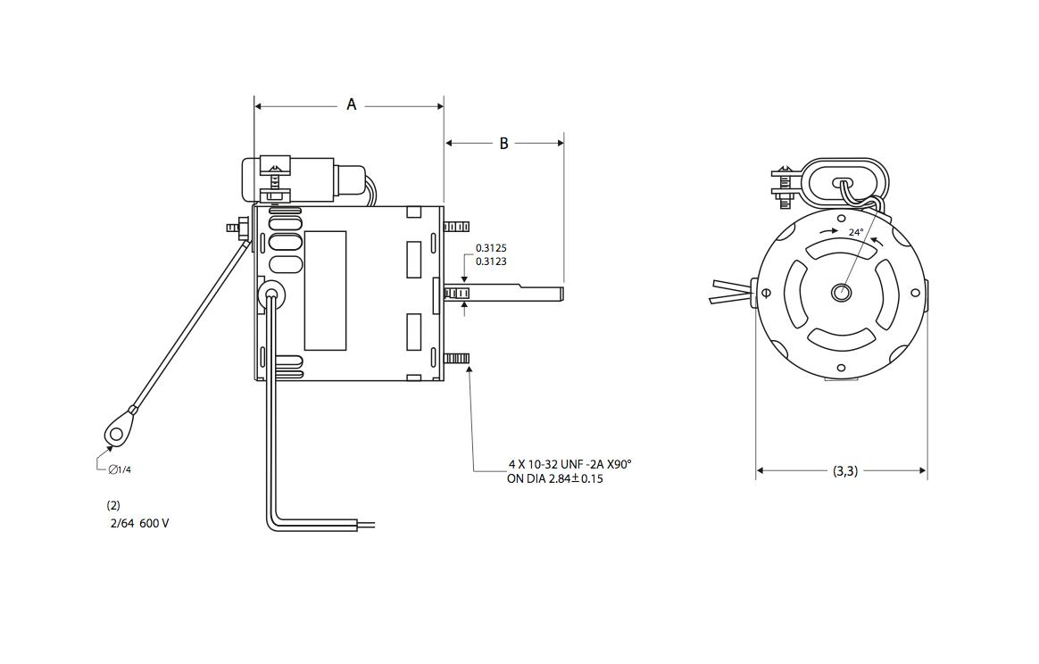 hight resolution of 29 frame motor 3 3 diameter type psc permanent split capacitor