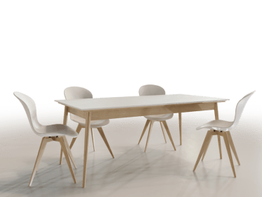 DT-0008 Scandinavian Dining Table and Chairs