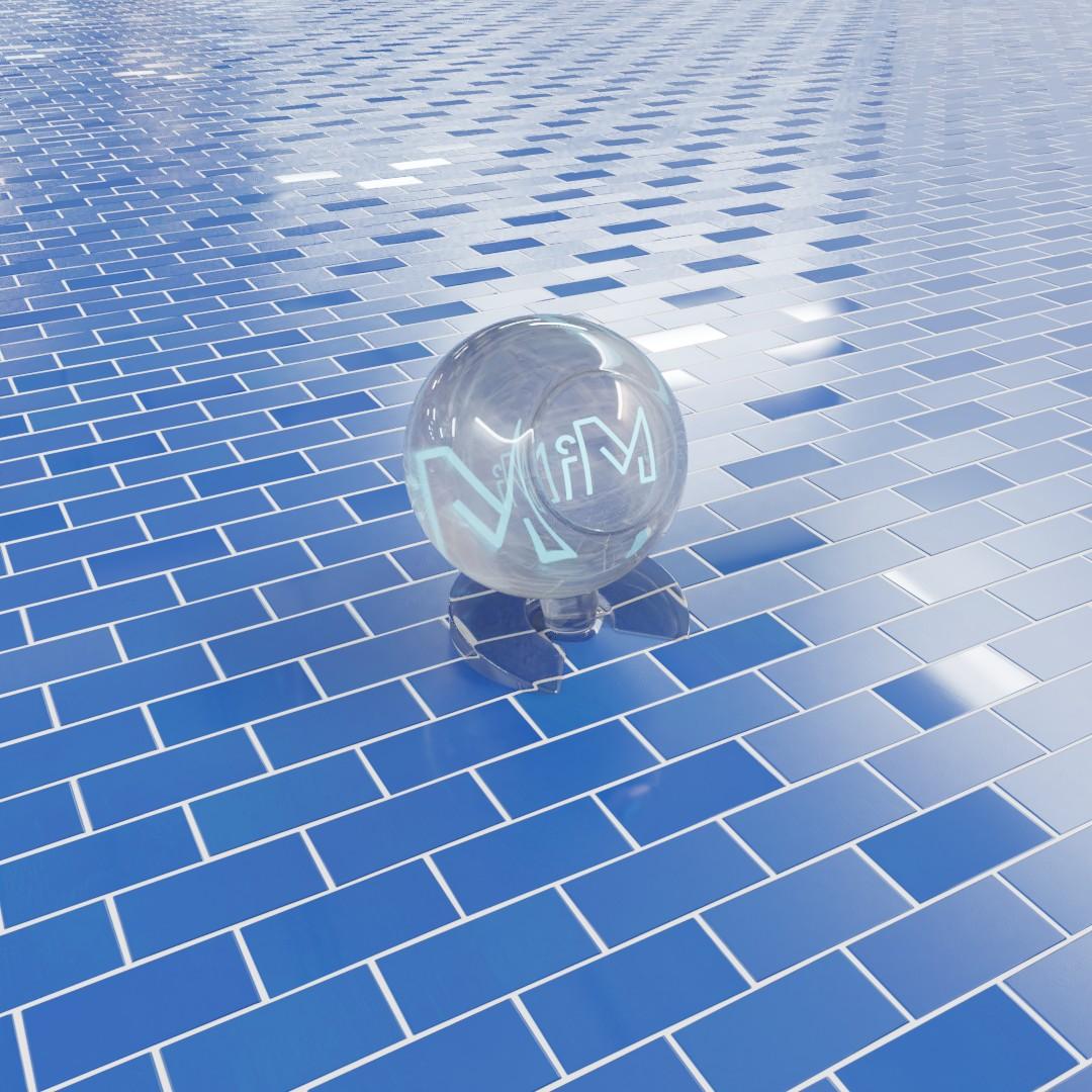 Blue Tiles Brick