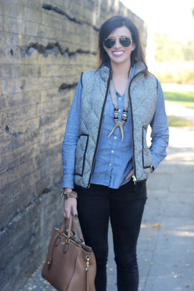 Layering for Fall with J.Crew