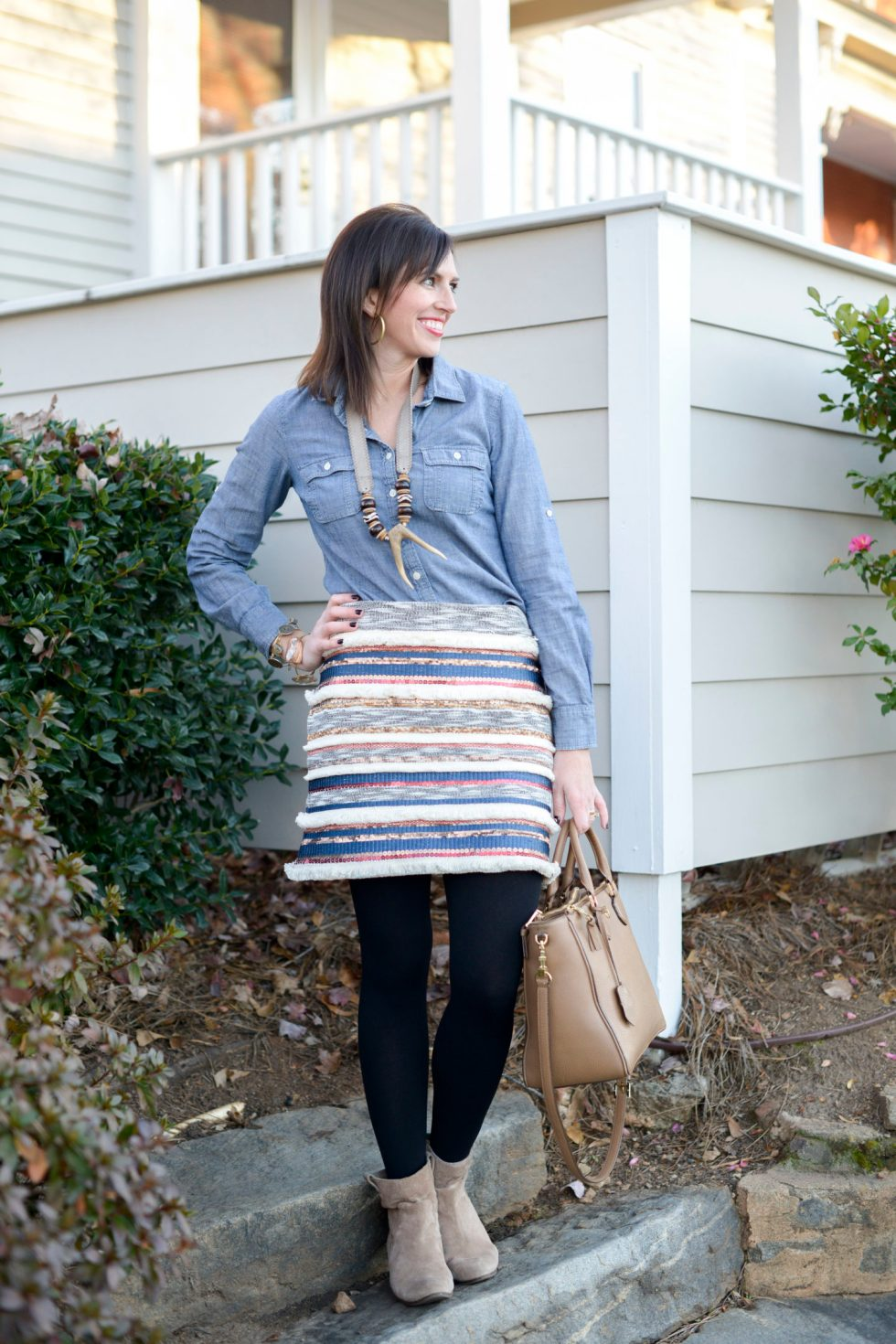 Fringe & Sequins + Chambray for Winter