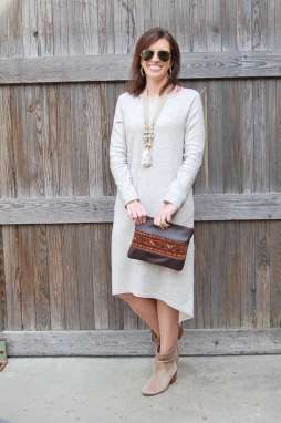 Neutral Midi Dress + Up a Tree Cup a Tea Co. - I'm Fixin' To - @mbg0112