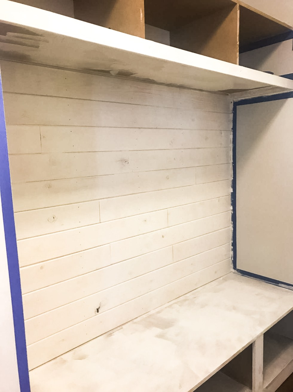 Excellent How To Install A Mudroom Bench With Shiplap Im Fixin To Caraccident5 Cool Chair Designs And Ideas Caraccident5Info