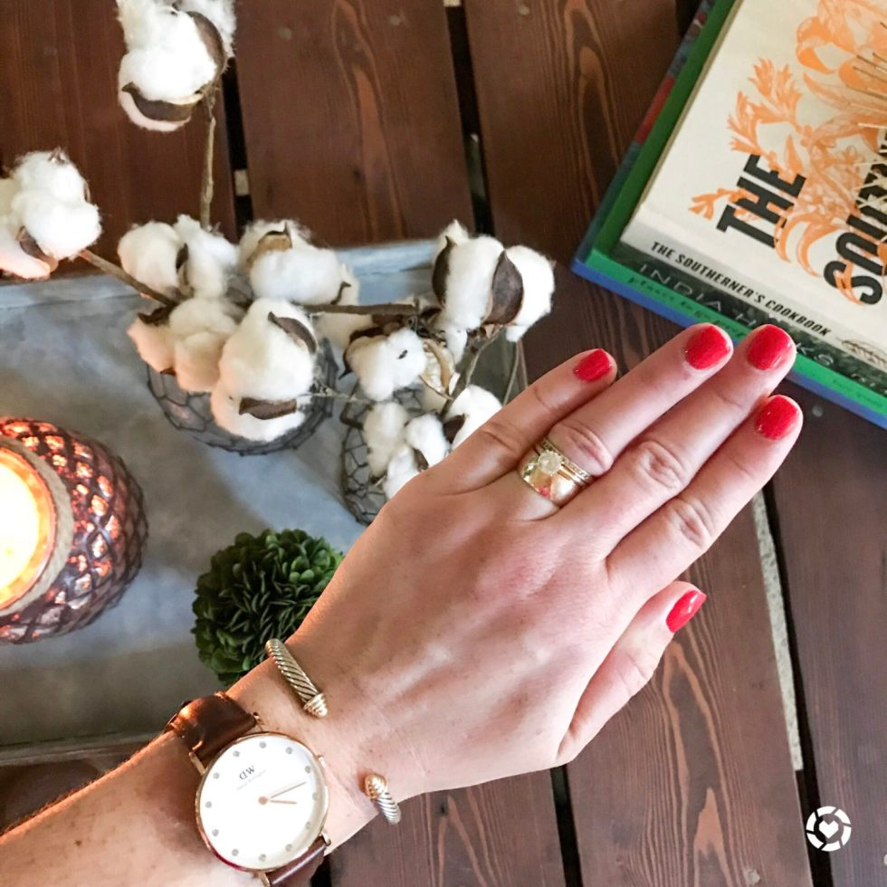 9 Best Nail Polish Colors for Warm Weather - I'm Fixin' To - @mbg0112 | Top 10 Best Summer Nail Polish Colors by popular North Carolina blog, I'm Fixin' To: image of a manicured hand with OPI Cajun Shrimp on the fingernails.