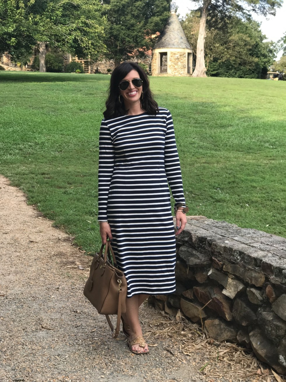 Building Your Spring Wardrobe Capsule - I'm Fixin' To - @mbg0112 | | Spring wardrobe capsule essentials featured by top US fashion blog, I'm Fixin' To: striped maxi dress