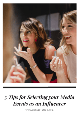 5 Tips for Selecting your Media Events as an Influencer - I'm Fixin' To - @mbg0112 | 5 Tips for Selecting your Media Events as an Influencer featured by top US blogger, Meghan of I'm Fixin' To