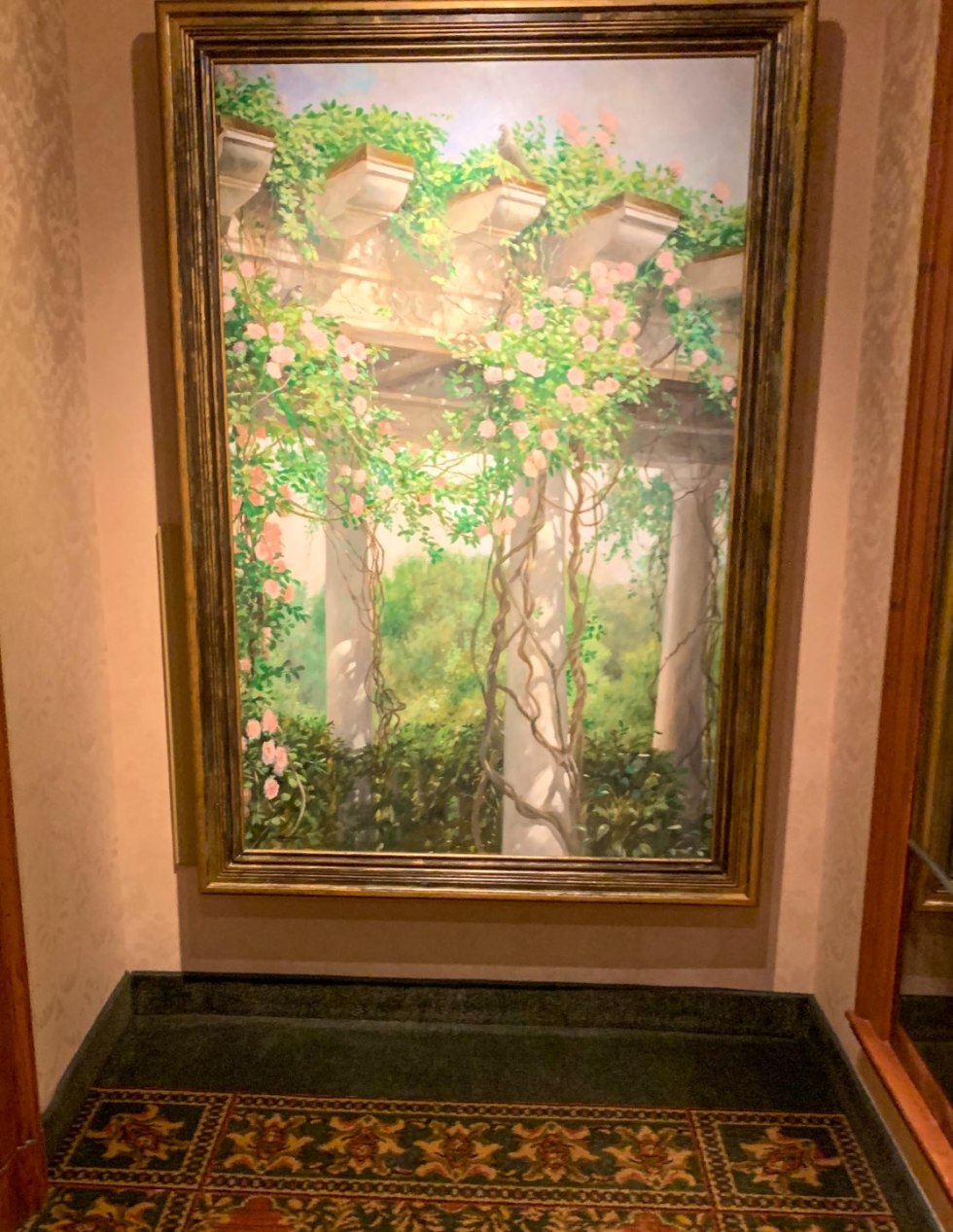 A Night at the O.Henry Hotel In Greensboro, NC - I'm Fixin' To - @mbg0112 |  A Night at the O.Henry Hotel In Greensboro, NC by popular North Carolina blog, I'm fixin' To: image of a large oil painting inside the O. Henry Hotel.