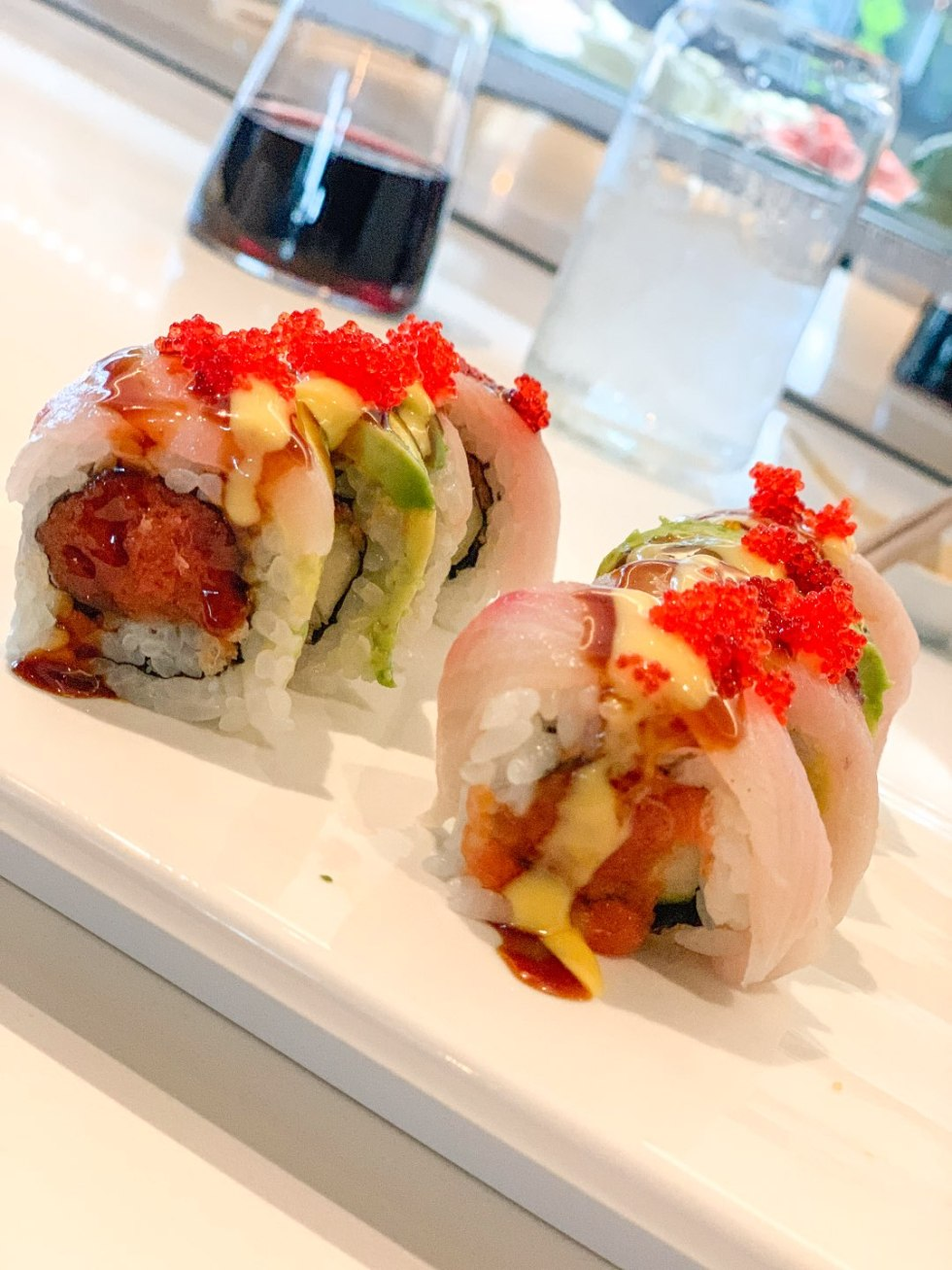 Welcome August + July 2019 Instagram Roundup - I'm Fixin' To - @mbg0112 | Welcome August + July 2019 Instagram Roundup by popular North Carolina life and style blog, I'm Fixin' To: image of sushi at Osha Thai Kitchen and Sushi.