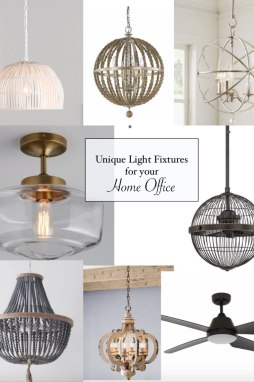 8 Unique Light Fixtures for your Home Office - I'm Fixin' To - @mbg0112