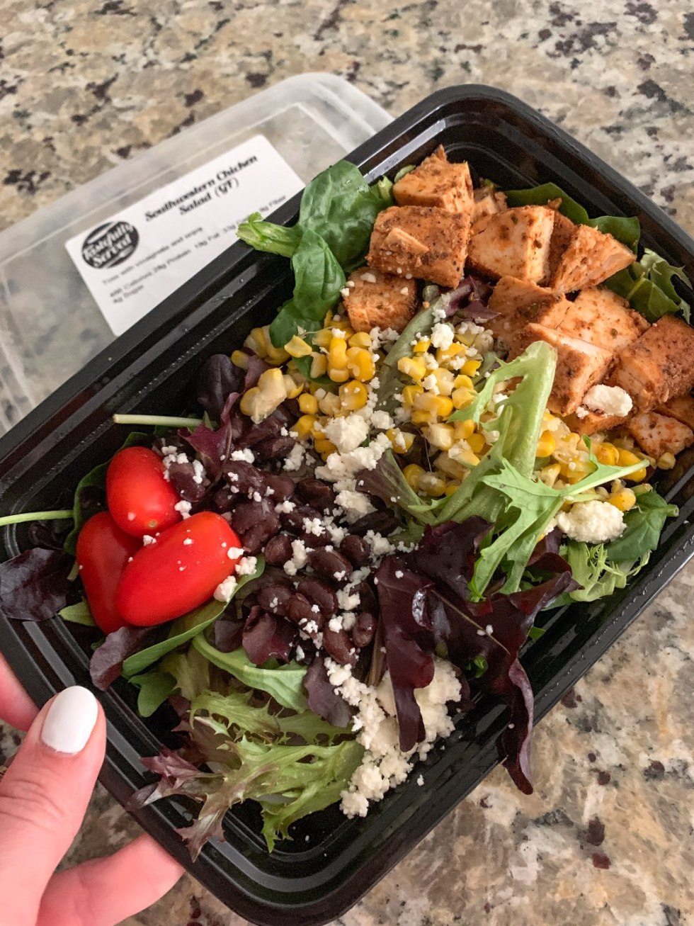 Weeknight Meal Ideas with Tastefully Served - I'm Fixin' To - @mbg0112 | Weeknight Meal Ideas with Tastefully Served by popular North Carolina lifestyle blogger, I'm Fixin' To: image of Tastefully Served Southwestern Chicken Salad.