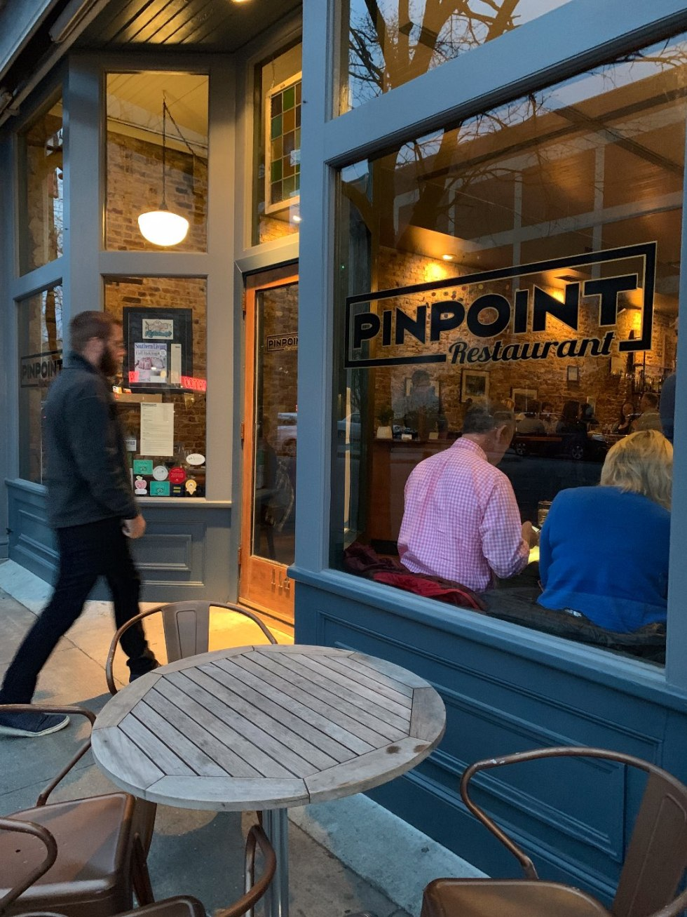 One Year Since  Hurricane Florence in North Carolina and How to Help Ocracoke by popular North Carolina blog, I'm Fixin' To: image of Pin Point Restaurant.
