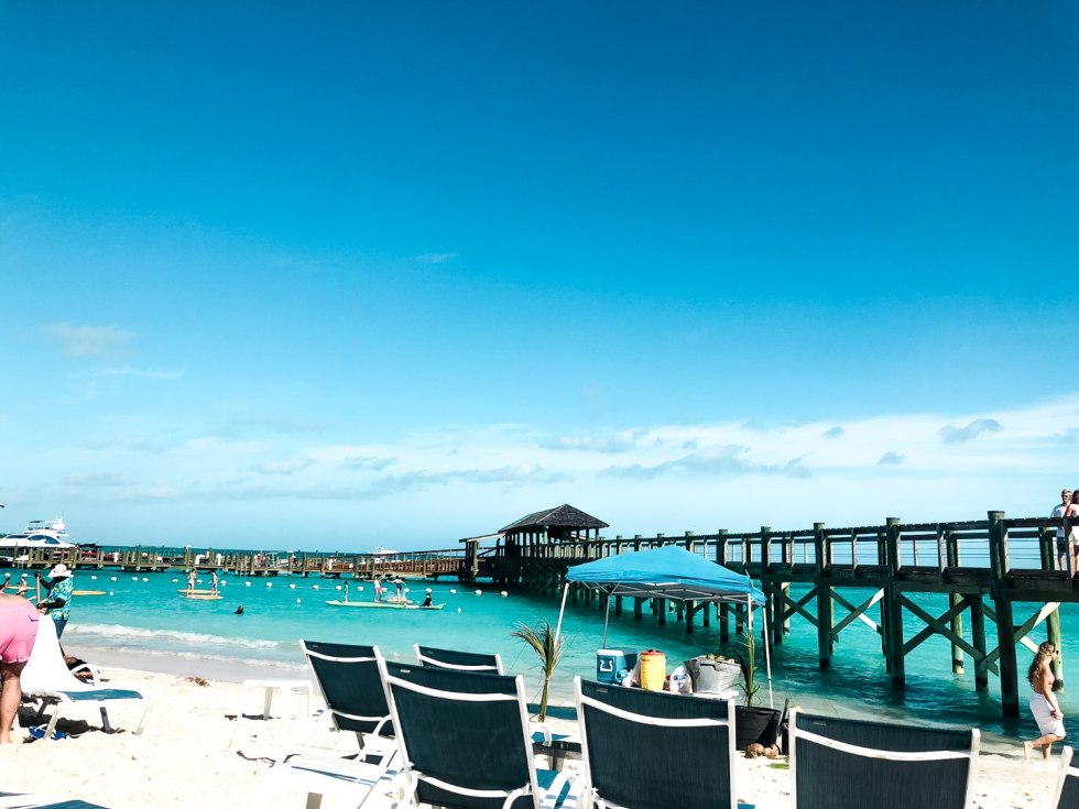 Warming Up in the Bahamas: the Best Things to Do at Baha Mar - I'm Fixin' To - @mbg0112 | Warming Up in the Bahamas: the Best Things to Do in Baha Mar by popular North Carolina travel blog, I'm Fixin' To: image of an ocean pier.