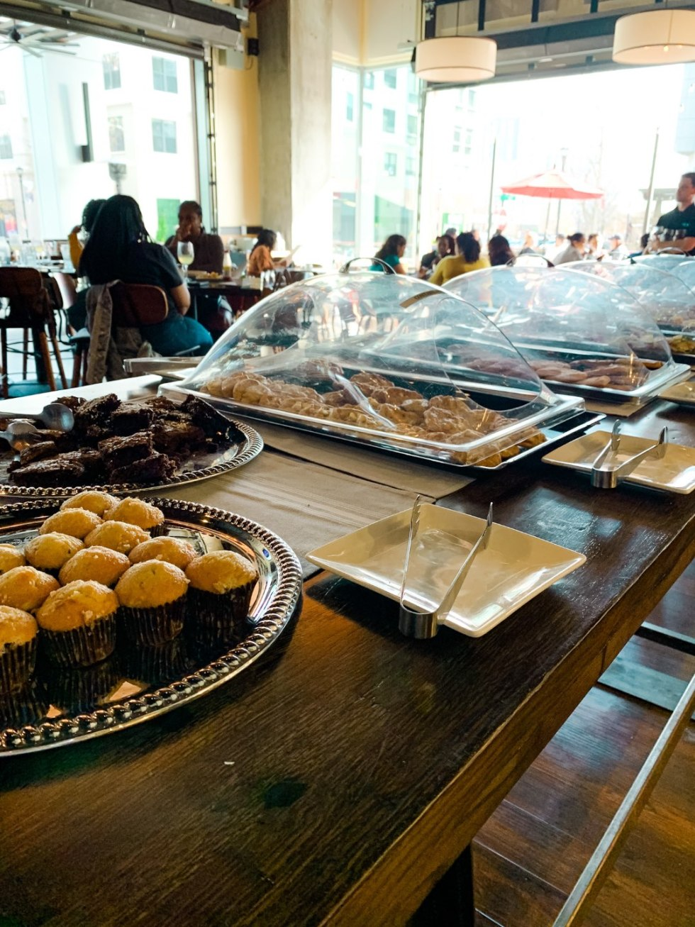 Where to Get Brunch in Raleigh: the 7 Best Spots - I'm Fixin' To - @mbg0112 \ Brunch in Raleigh by popular Raleigh blog, I'm Fixin To: image of a food buffet at Stir.