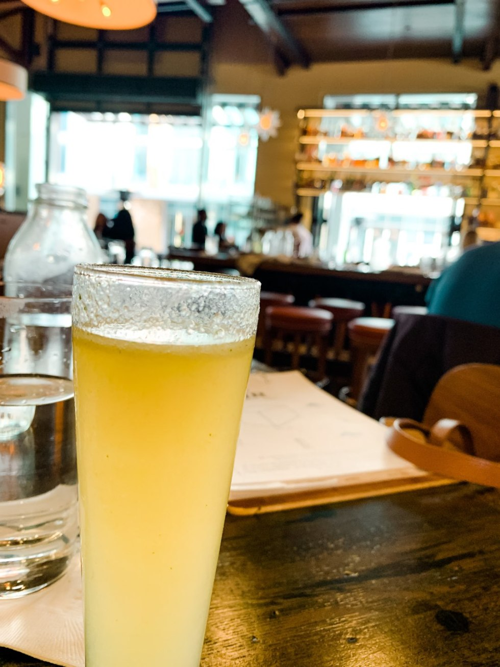 Where to Get Brunch in Raleigh: the 7 Best Spots - I'm Fixin' To - @mbg0112 | Brunch in Raleigh by popular Raleigh blog, I'm Fixin To: image of an alcoholic beverage at Stir.