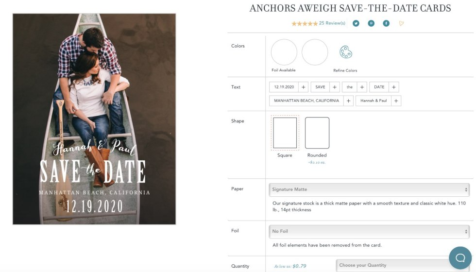 5 Tips for Choosing the Right Save the Date Template - I'm Fixin' To - @mbg0112 | Save the Date Template Options by popular Raleigh lifestyle blog, I'm Fixin To: screen shot image of Basic Invite's Save the Date cards web page.