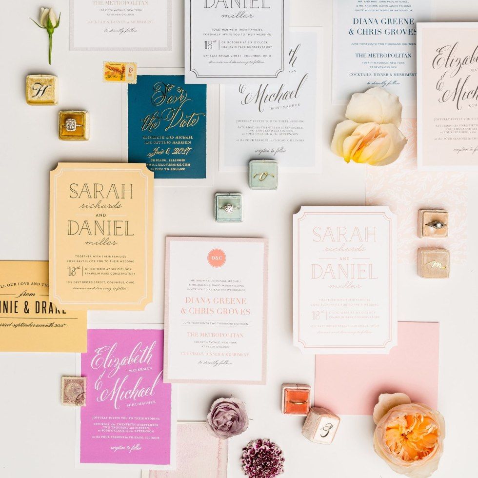 5 Tips for Choosing the Right Save the Date Template - I'm Fixin' To - @mbg0112 | Save the Date Template Options by popular Raleigh lifestyle blog, I'm Fixin To: image of a Basic Invite wedding stationary sets.