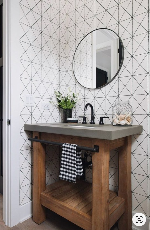 Inspiration Board: Modern Guest Bathroom Ideas - I'm Fixin' To - @mbg0112