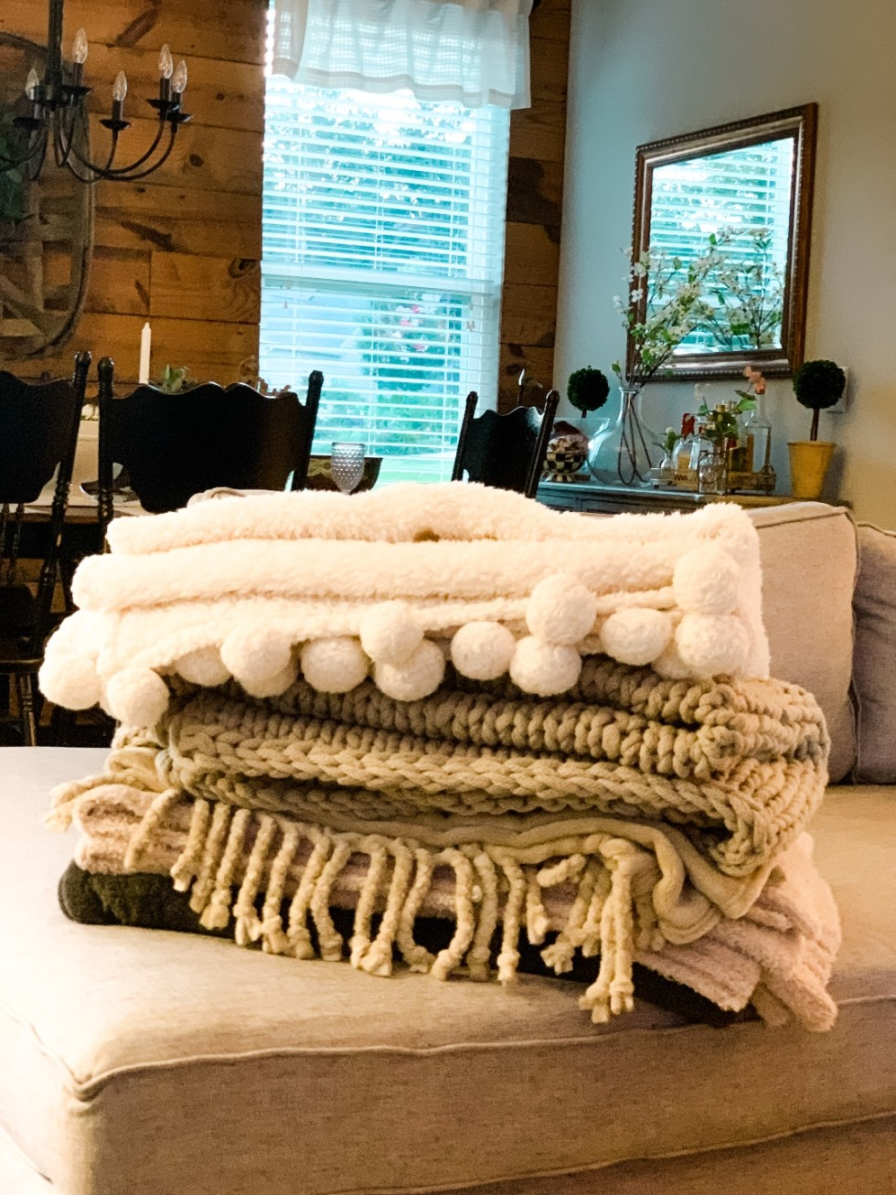 Top 5 Best Throw Blankets on Nordstrom and Pottery Barn featured by top NC lifestyle blogger, I'm Fixin' To