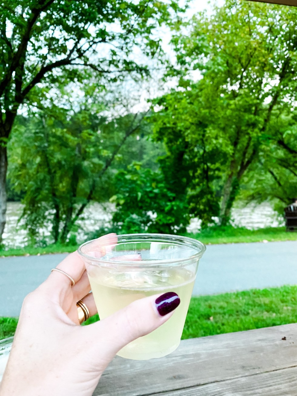 A Casual Weekend in Asheville: the Best Things to Do with your Dogs - I'm Fixin' To - @mbg0112   Weekend In Asheville by popular NC travel blog, I'm Fixin' To: image of a woman holding a drink.