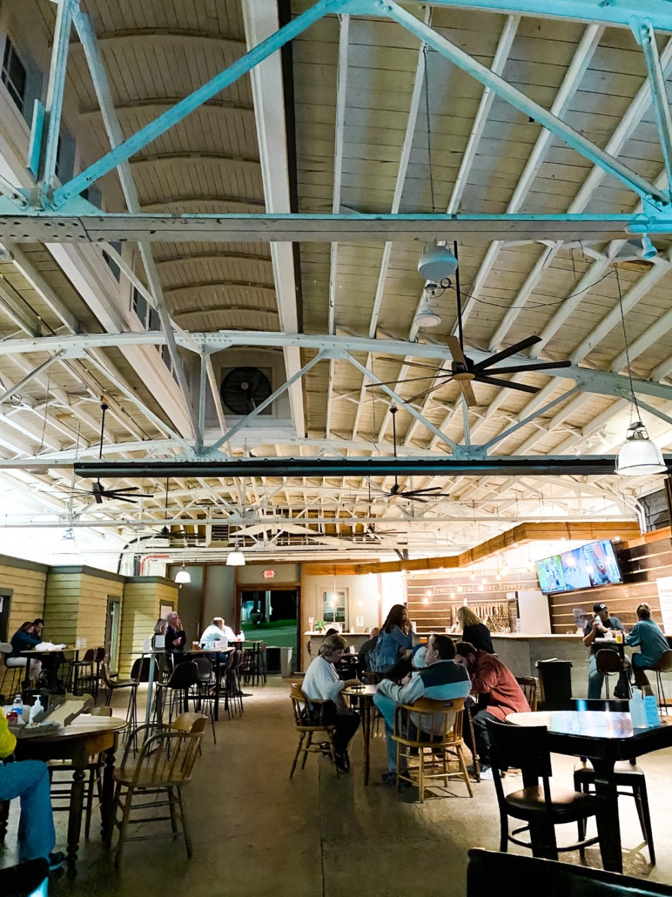 A Casual Weekend in Asheville: the Best Things to Do with your Dogs - I'm Fixin' To - @mbg0112   Weekend In Asheville by popular NC travel blog, I'm Fixin' To: image of the French Broad River Brewery.