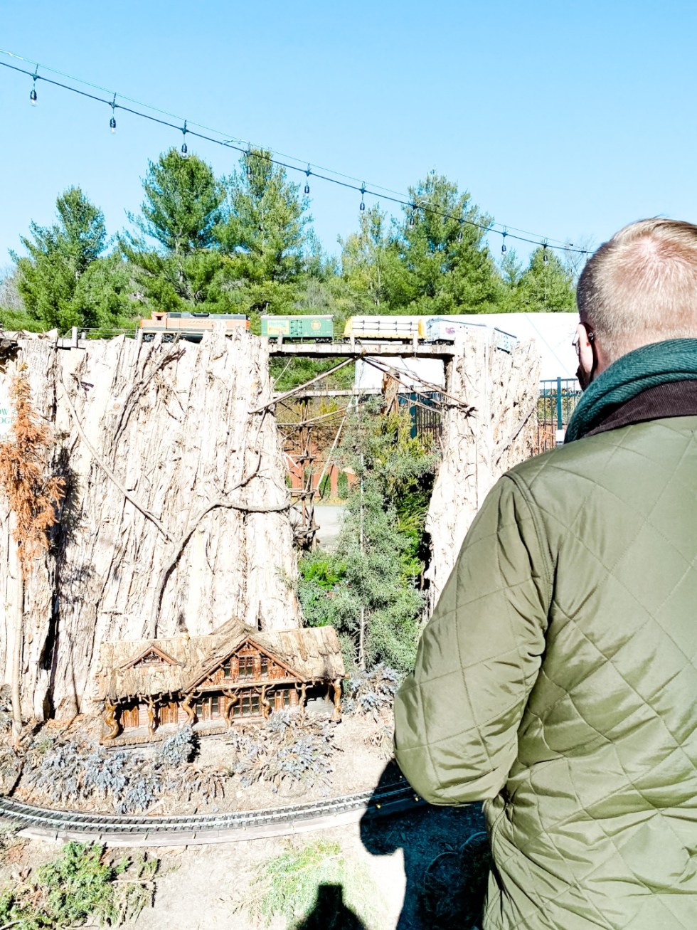Christmas in Asheville: a Weekend Getaway During the Holidays - I'm Fixin' To - @imfixintoblog |Christmas in Asheville NC by popular NC lifestyle blog, I'm Fixin' To: image of miniature train track at  Antler Hill Village.