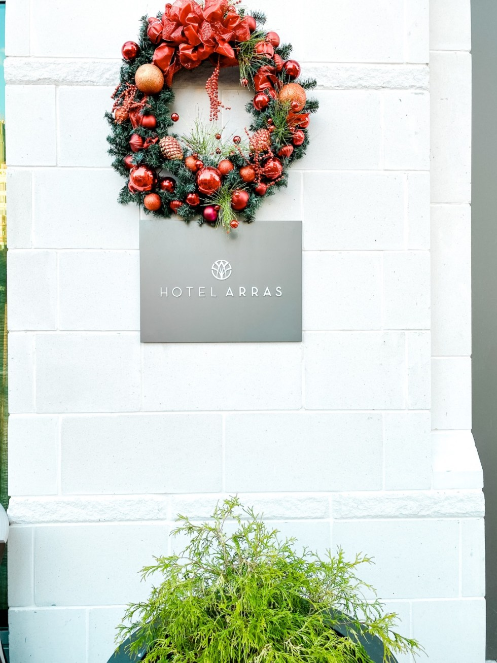 Christmas in Asheville: a Weekend Getaway During the Holidays - I'm Fixin' To - @imfixintoblog |Christmas in Asheville NC by popular NC lifestyle blog, I'm Fixin' To: image of Hotel Arras.