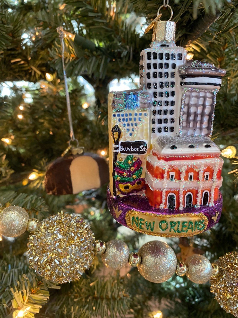 2020 Holidays: Unique Christmas Ornaments - I'm Fixin' To - @mbg0112 |Unique Christmas Ornaments by popular NC life and style blog, I'm Fixin' To: image of a New Orleans ornament.