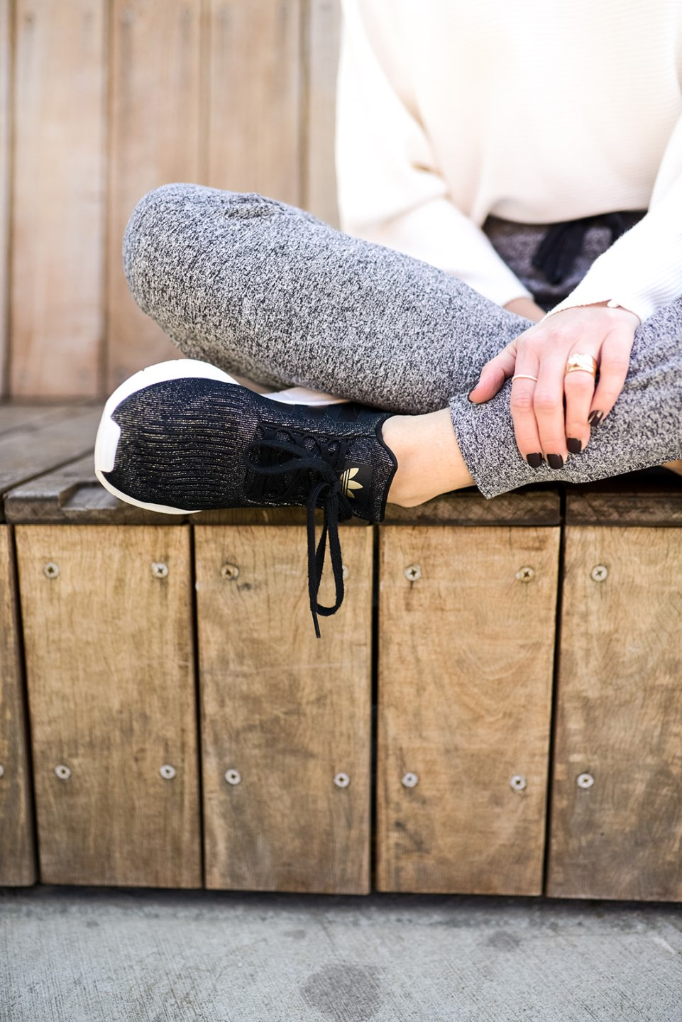 Most Popular Posts of 2020 - I'm Fixin' To - @imfixintoblog |Most Popular Posts by popular NC lifestyle blog, I'm Fixin' To: image of a woman wearing grey jogger pants and black Adidas shoes.
