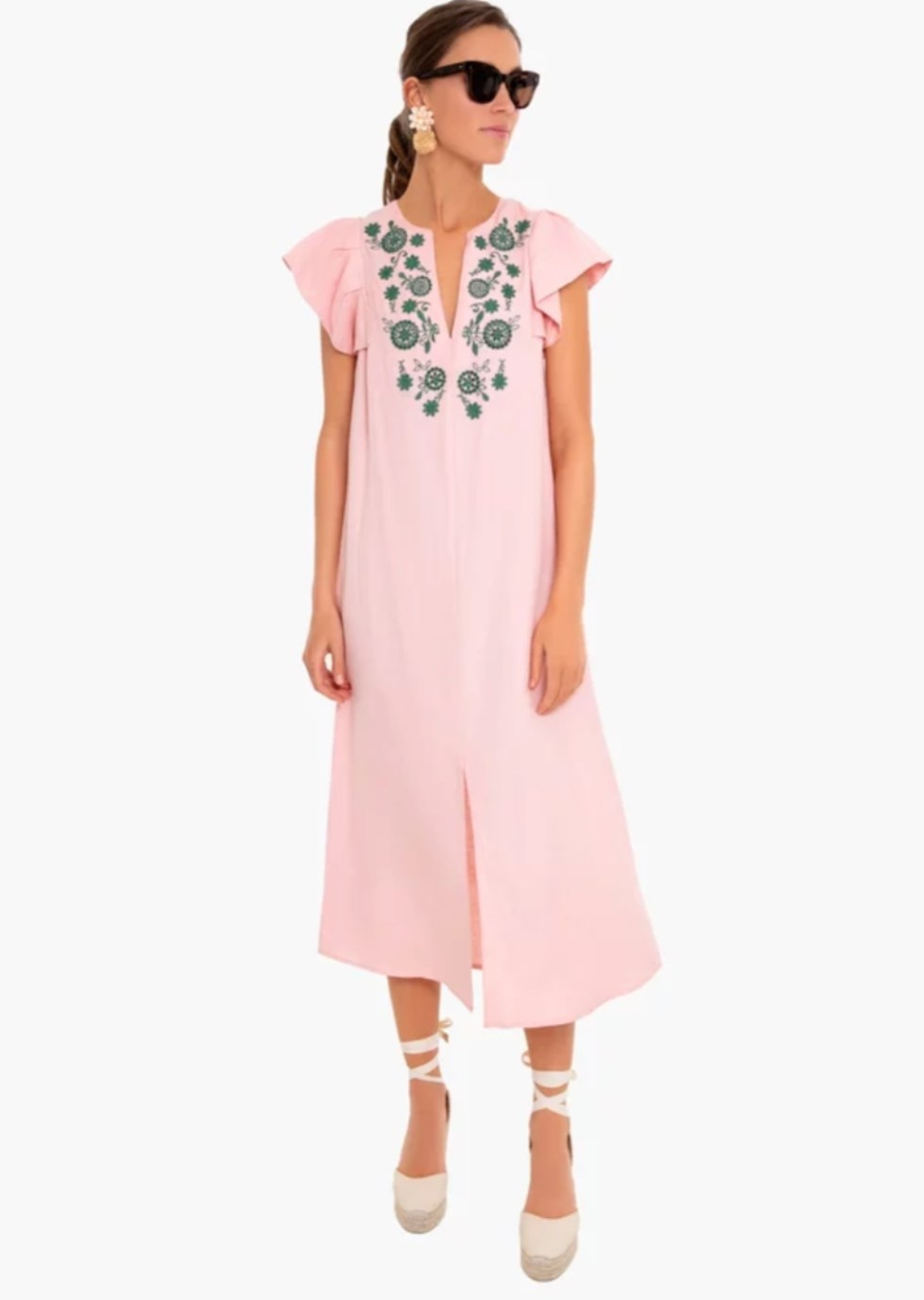 What I'm Eyeing for Early Spring - I'm Fixin' To - @imfixintoblog |Early Spring Fashion by popular NC fashion blog, I'm Fixin' To: image of a Tuckernuck Whispering Peach Emma Embroidered Caftan.
