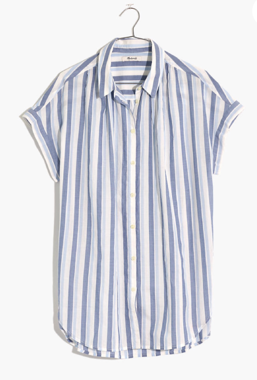 What I'm Eyeing for Early Spring - I'm Fixin' To - @imfixintoblog |Early Spring Fashion by popular NC fashion blog, I'm Fixin' To: image of a Madewell Central Shirt in Ducasse Stripe.