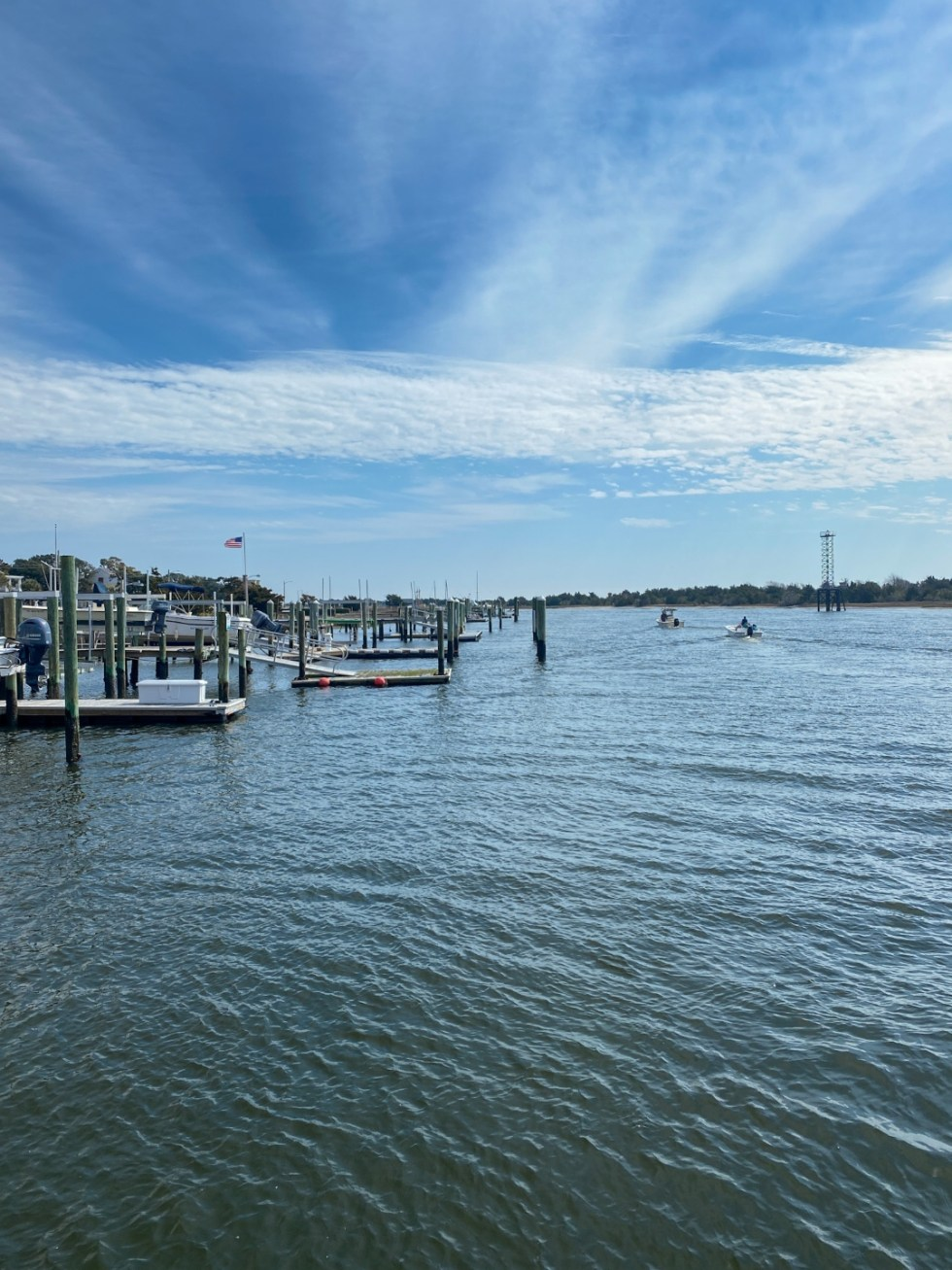 Weekend Travel: The Best Things to Do in Beaufort NC in 48 Hours - I'm Fixin' To - @imfixintoblog |Things to Do in Beaufort NC by popular NC travel blog, I'm Fixin' To: image of a boat dock.