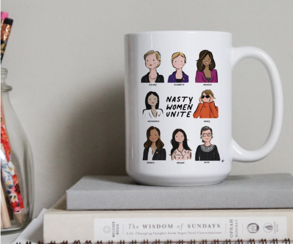 Celebrate International Women's Day with these Women Owned Businesses - I'm Fixin' To - @imfixintoblog |Women Owned Businesses by popular NC lifestyle blog, I'm Fixin' To: image of a Nasty Women Unite ceramic coffee mug.