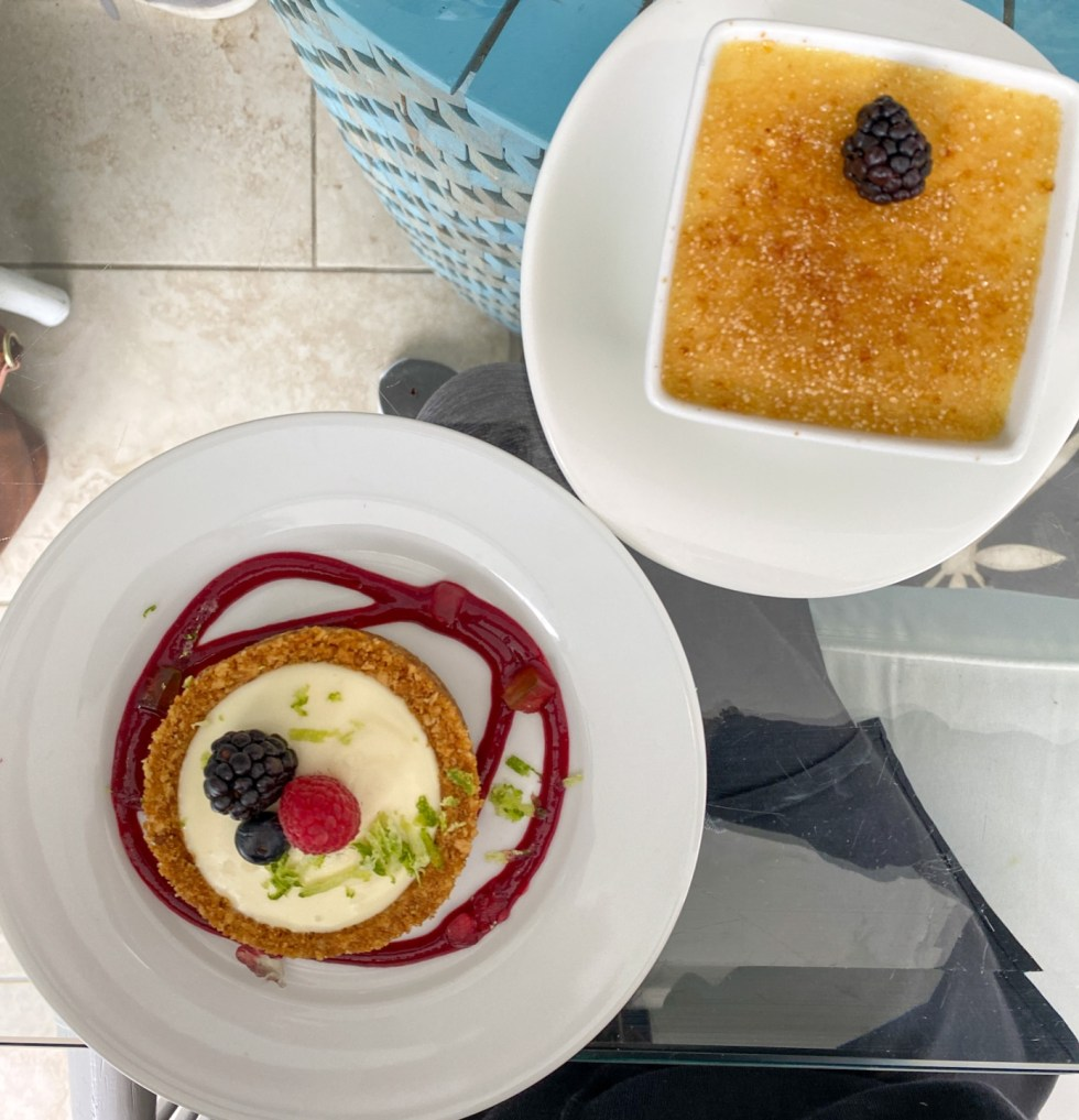 A Spring Weekend in Wilmington, NC: the Best Things to Do - I'm Fixin' To - @imfixintoblog |Weekend in Wilmington by popular NC travel blog, I'm Fixin' To: image of creme brulee.