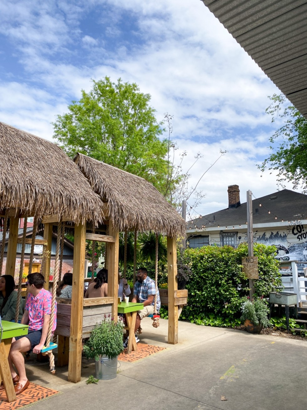 Top 7 Best Patios in Charlotte, NC featured by top NC lifestyle blogger, I'm Fixin' To: NoDa Company Store