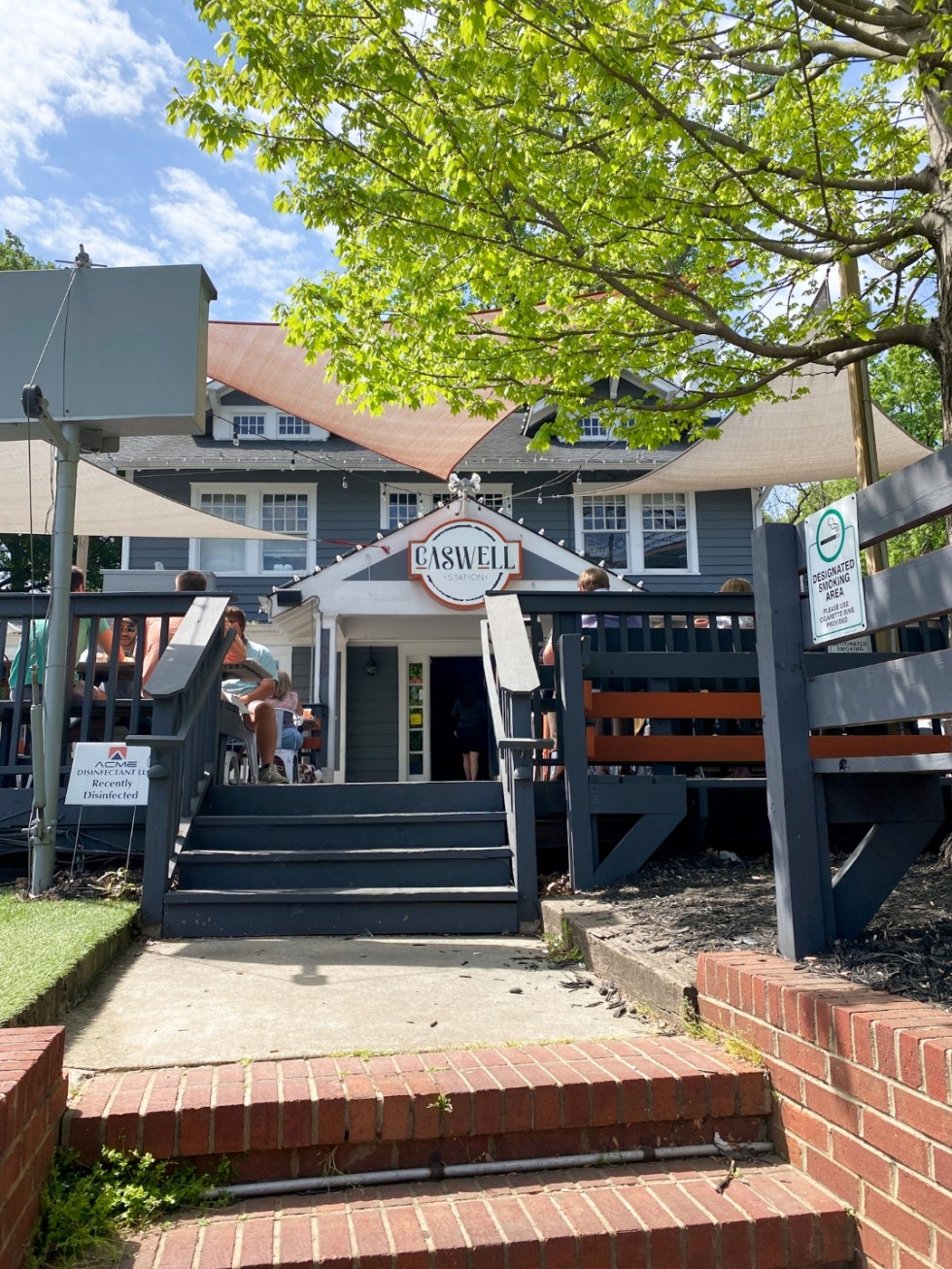 Top 7 Best Patios in Charlotte, NC featured by top NC lifestyle blogger, I'm Fixin' To: Caswell Station