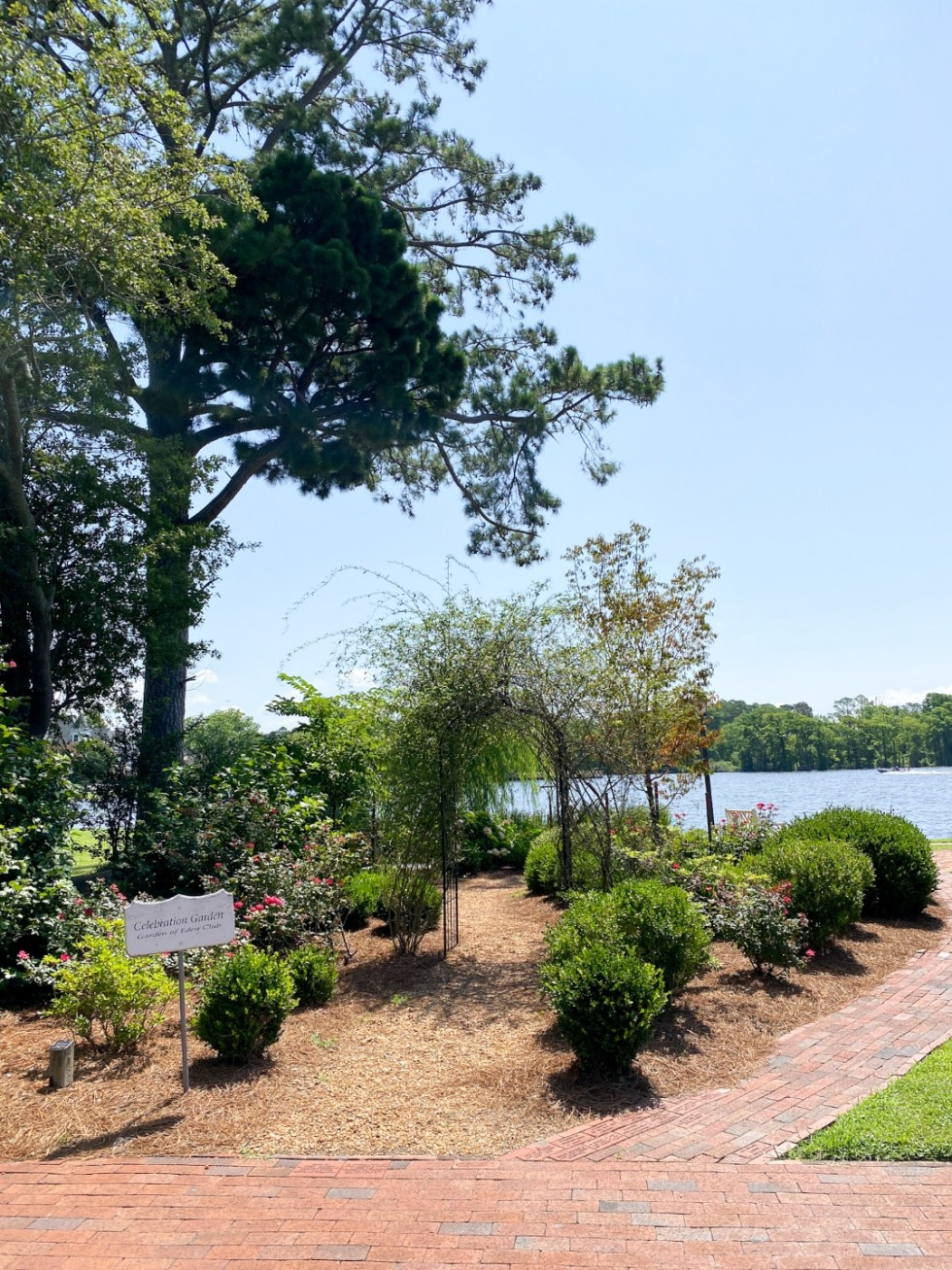 Top 10 Best Things to Do in Edenton, NC: A Complete Travel Guide - I'm Fixin' To - @imfixintoblog | Edenton Travel Guide by popular NC travel guid, I'm Fixin' To: image of the Celebration Garden.