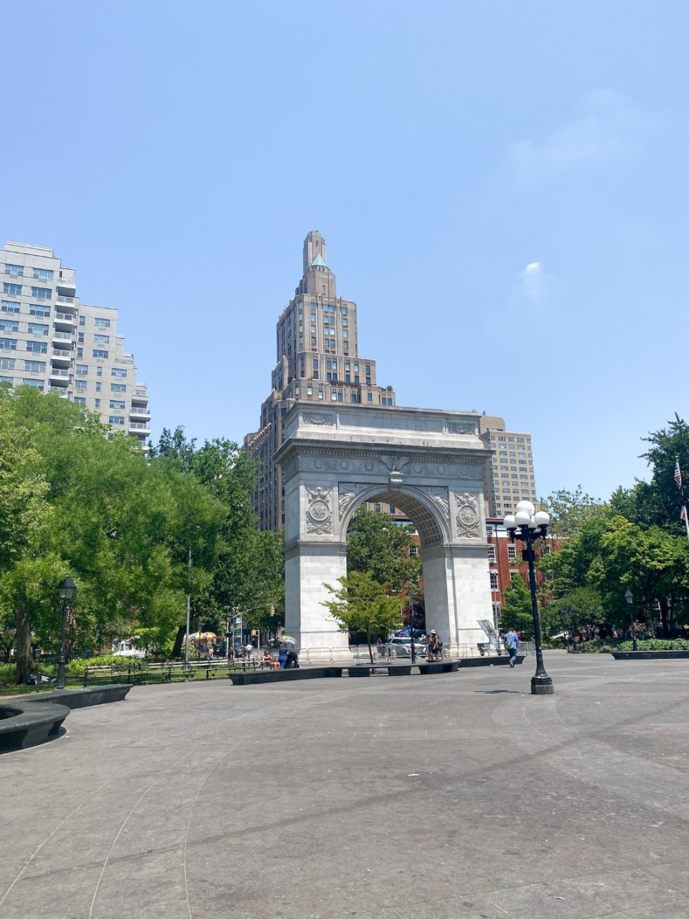 NYC Summer Weekend: Things to Do in NYC in the Summer - I'm Fixin' To - @imfixintoblog   NYC Summer Weekend by popular NC travel blog, I'm Fixin' To: image of the Arc De Triumph in Central Park.