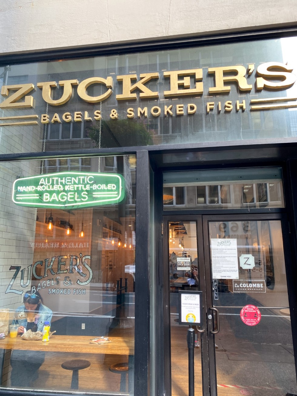 NYC Summer Weekend: Things to Do in NYC in the Summer - I'm Fixin' To - @imfixintoblog   NYC Summer Weekend by popular NC travel blog, I'm Fixin' To: image of Zucker's Bagels and Smoked Fish.