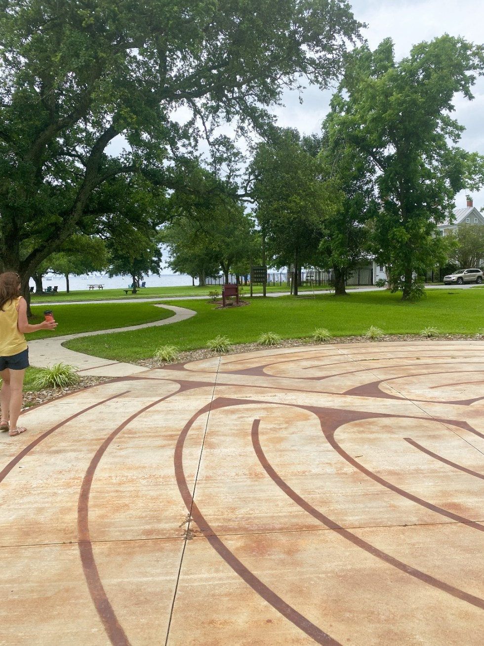 What to Do in Oriental, NC - I'm Fixin' To - @imfixintoblog | Things to do in Oriental NC by popular NC travel blog, I'm Fixin' To: image of a community labyrinth.
