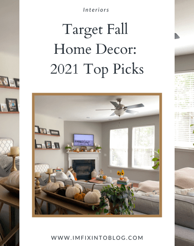 Target Fall Home Decor favorites for 2021 featured by top NC lifestyle blogger, I'm Fixin' To