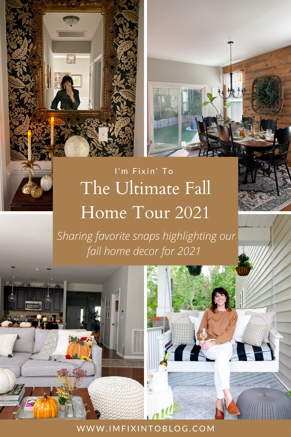 Fall Home Tour 2021 featured by top NC lifestyle blogger, I'm Fixin' To