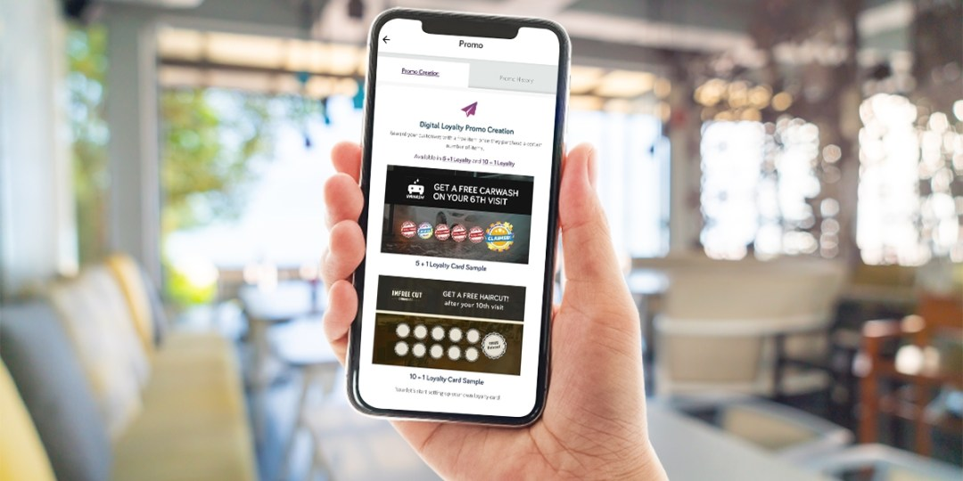 phone showing how to create a digital loyalty program on the Imfree app