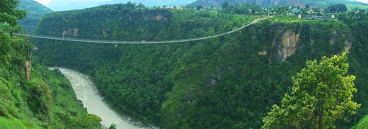 Suspension Bridge in Kushma