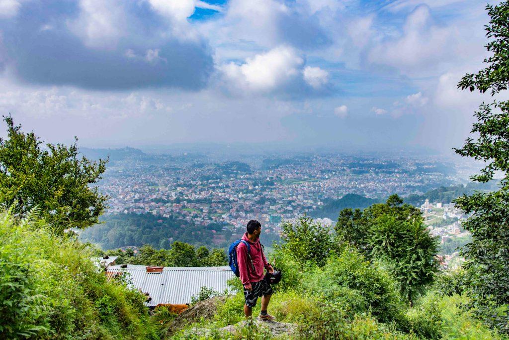 From the Top of Jamchen Vijaya Stupa, Budhanilkantha