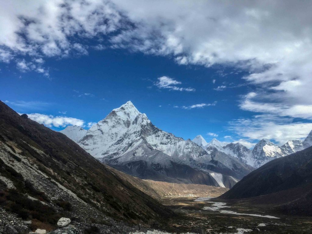 Mt. Ama Dablam seen on the Way to Pheriche, returning from Everest Base Camp