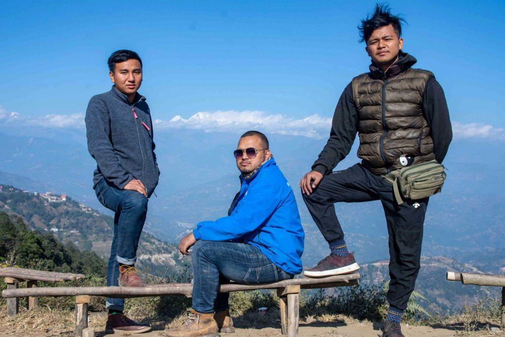 Enjoying the Mountain Ranges from Nagarkot Hill