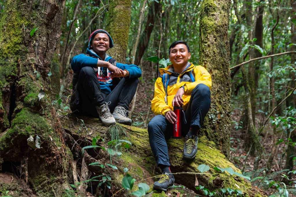 Posing for a Photo in Dense forest of Shivapuri Nagarjun National Park